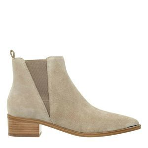 Marc Fisher Yale Pointy Toe Tan Suede Ankle Bootie
